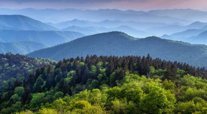 Smoky Mountains in the summertime